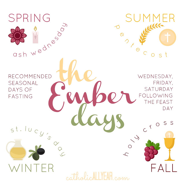 Catholic all year november 2017 the ember days are four sets of three days of penance one set at the beginning of each season fandeluxe Image collections