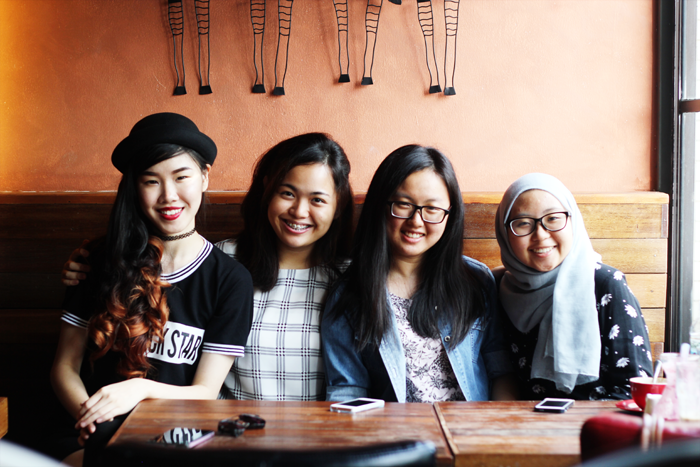 The Mayden (May Cho) and friends in Rack & Brew