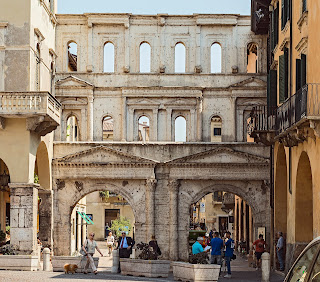 The Roman Porta Borsari in Verona is almost 2,000 years old