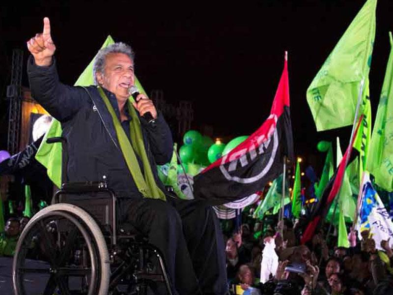 Insta Lenín Moreno a un Ecuador unido, con trabajo y oportunidades