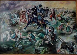 Руда. Музей Ивана Выговского. Хотинская битва. 1621 г. Худ. О. Климко
