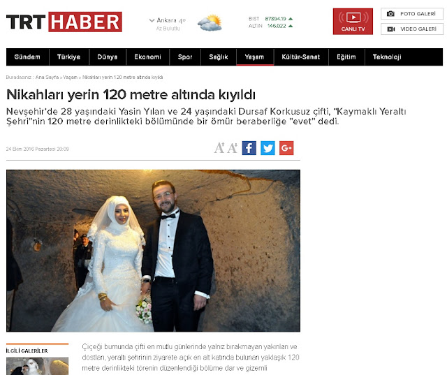 yer altı şehrinde nikah