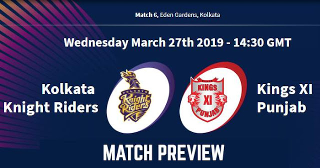 IPL 2019 Match 6 KKR vs KXIP Match Preview, Head to Head and Trivia
