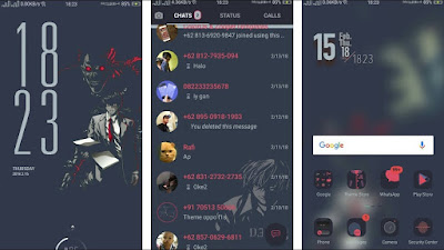 Download Theme Death Note V800 for OPPO Smartphone, Deva Project