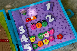Quiet book for Aria, Counting page, handmade by TomToy, unique gift for children, travel toy