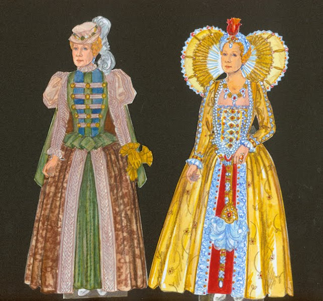 Helen Mirren as Queen Elizabeth Paper Dolls