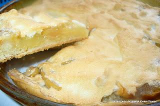 яблочный пирог в разрезе