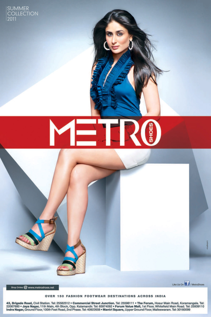 17 Best Images About Its Fashion Metro On Pinterest: Bollywood Mode: Kareena Kapoor's Metro Shoes Ads