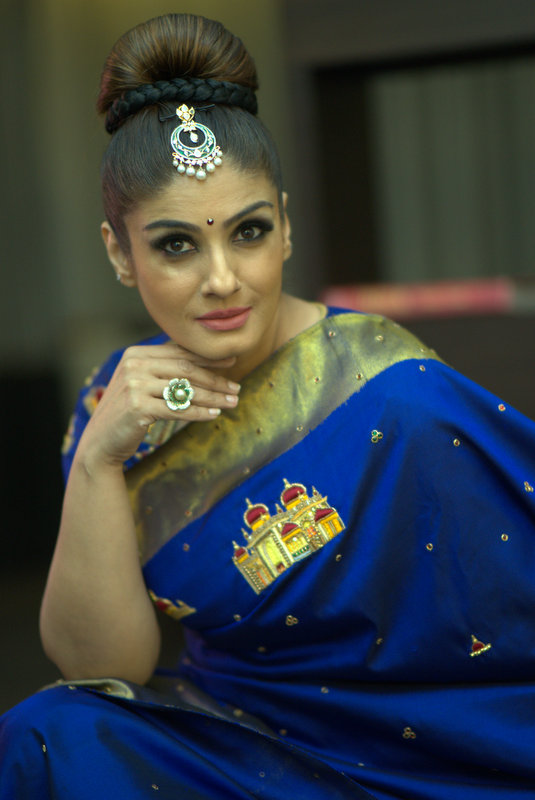 Raveena Tandon Diamond Tikka cum Pendant