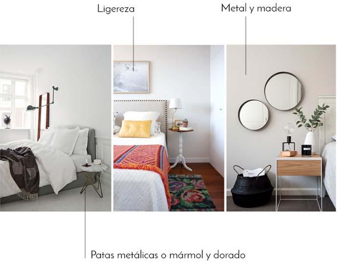 Tendencias dormitorios 2017 mesas de noche