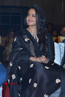 Actress Anushka Anushka Shetty Stills in Black Salwar Kameez at Om Namo Venkatesaya Audio Launch Event  0010.JPG