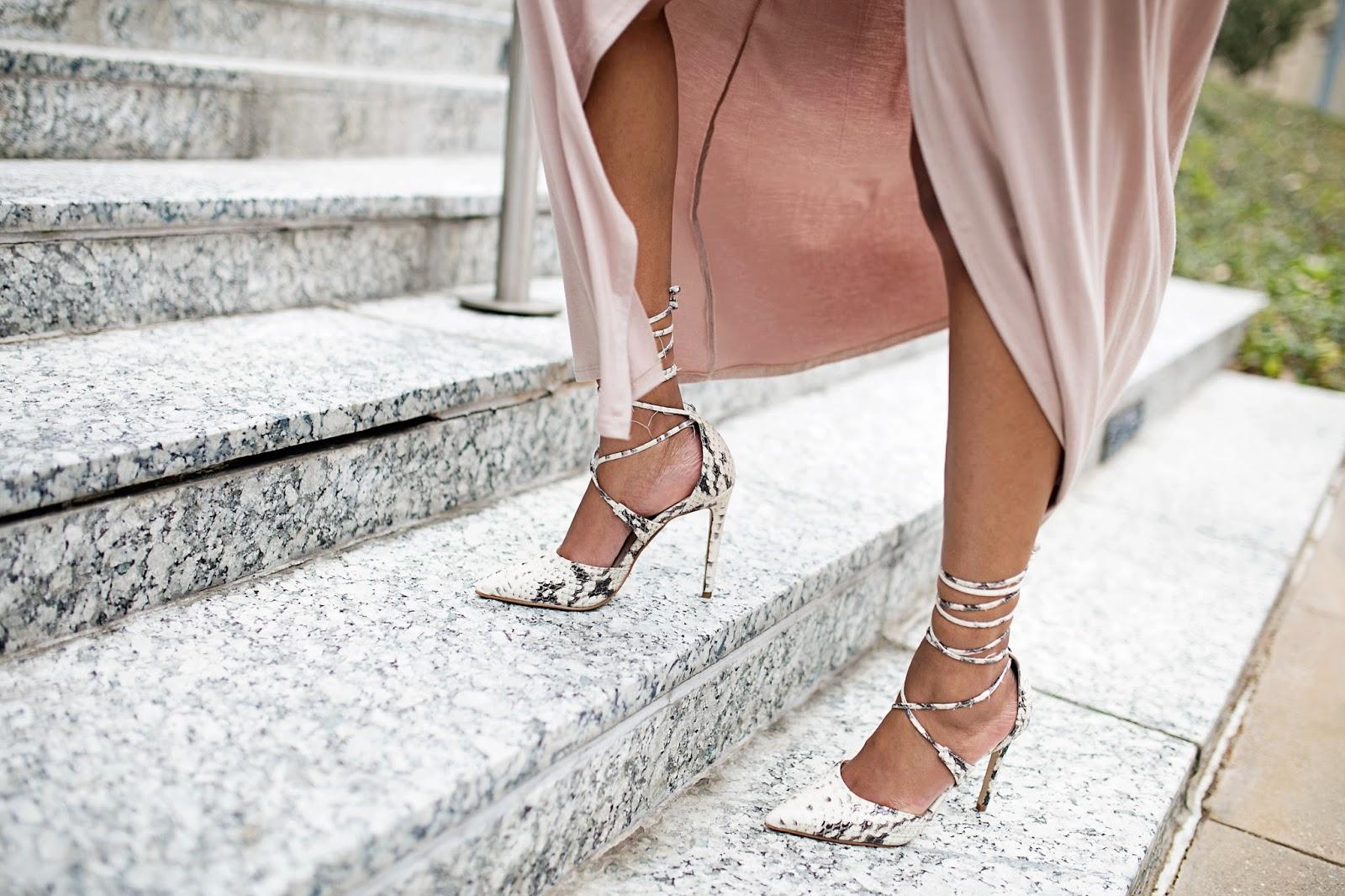 wrap dress, maxi dress, winter maxi dress, nude dress, blush pink dress, forever 21, sequin clutch, target handbag, steve madden raela, druzy bracelets, statement necklace, H&M, dallas blogger, fashion blogger, black girl blogger, detroit blogger