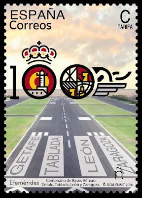 Filatelia - Centenario Bases aéreas - 2020 - Sello