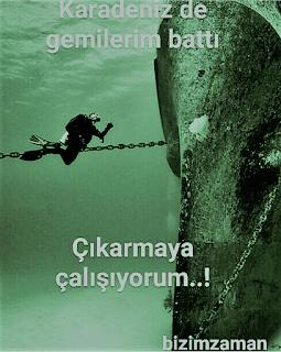 Karadenizde Gemilerim Battı Duvar Yazısı