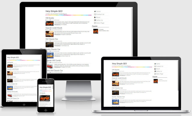 Very Simple SEO Responsive Blogger Templates