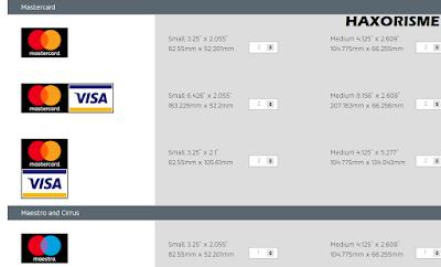 Memilih Stiker Gratis Visa Mastercard