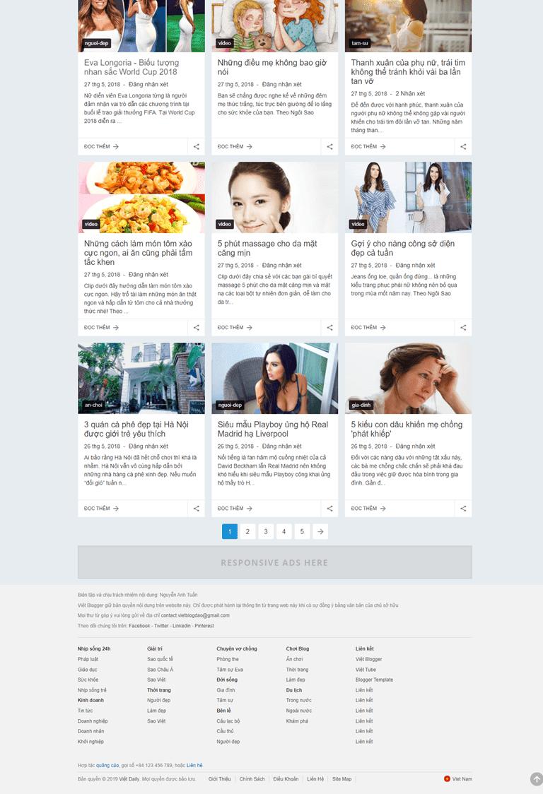 Template Blogspot cá nhân đẹp tinh tế 01 - Ảnh 2