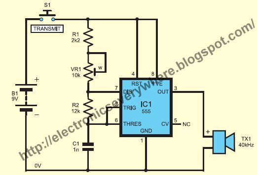 Ultrasonic Wave Receiver Circuit Circuit Schematic Electronics