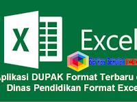 Aplikasi DUPAK Format Terbaru 2019 dari Dinas Pendidikan Format Excel