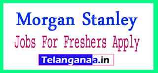 Morgan Stanley Recruitment Jobs For Freshers Apply