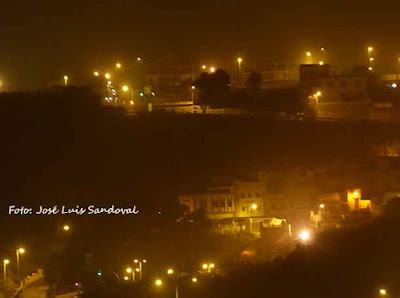 Fotos calima de noche muy baja, Las Palmas de Gran Canaria