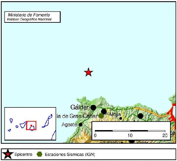 Terremoto norte de Gáldar, Atlántico Canarias
