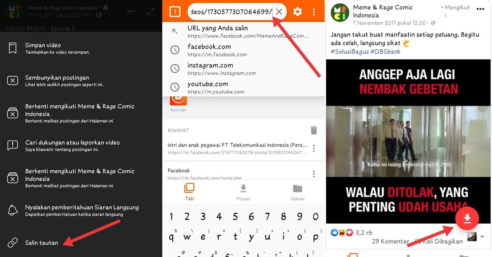 Cara Download Video Di Beranda Dan Komentar Facebook For Android Punyahp Net