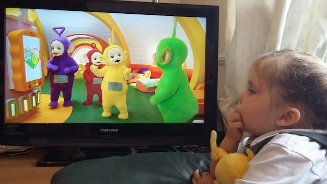 Watching New Teletubbies With LM and Little E