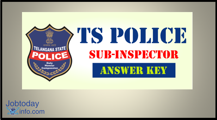Telangana (TS) Police SI Mains Answer Key 2016 Download www.tslprb.in