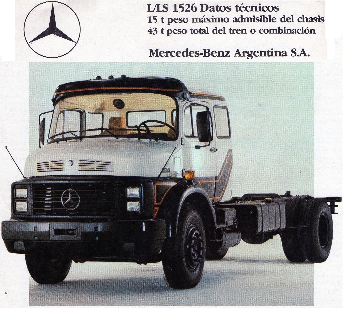 Camión Argentino: Mercedes-Benz L/LS 1526