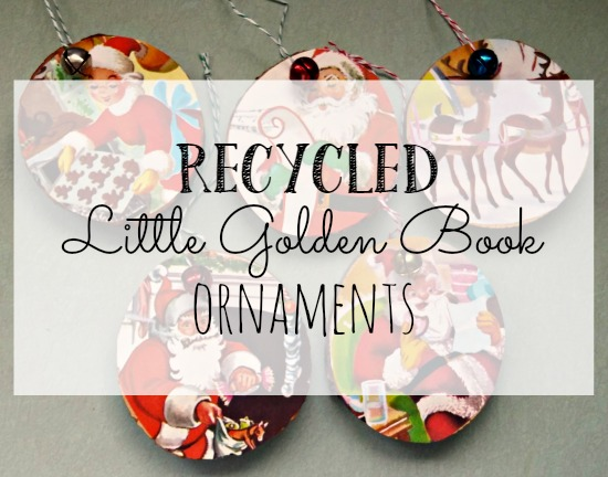Using old Little Golden Books to make Christmas ornaments