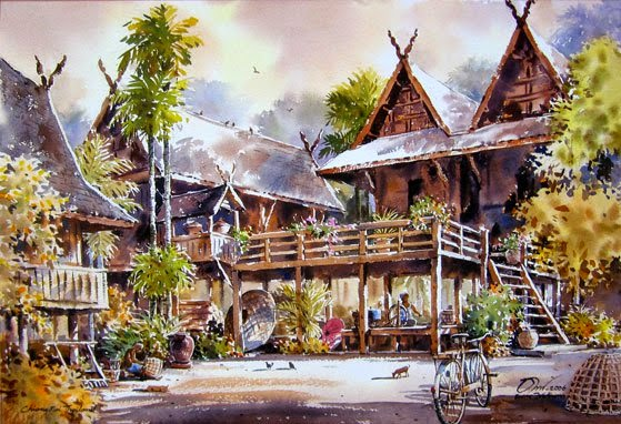 Beautiful Watercolor Paintings By Thailand Artist Thanakorn Chaijinda