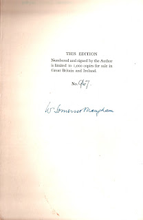 signed copy, somerset maugham, liza of lambeth