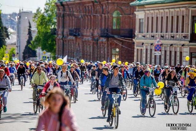 28 мая в Уфе состоялся фестиваль «День 1000 велосипедистов»