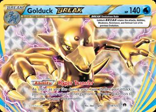 Golduck BREAK BREAKpoint Pokemon Card