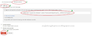 cara verifikasi blog di webmaster tools