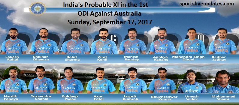 India vs Australia Playing XI Prediction