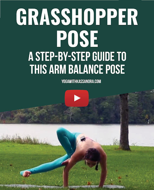I often get asked how to do this arm balance pose. It is one that looks quite tricky. When you see it, it is hard to understand exactly where your limbs are supposed to go, and how they get there. In the following blog I will try to break it down for you as simply as I can. If you are more of a visual or auditory learner, check out my YouTube tutorial How To Do Grasshopper Pose.