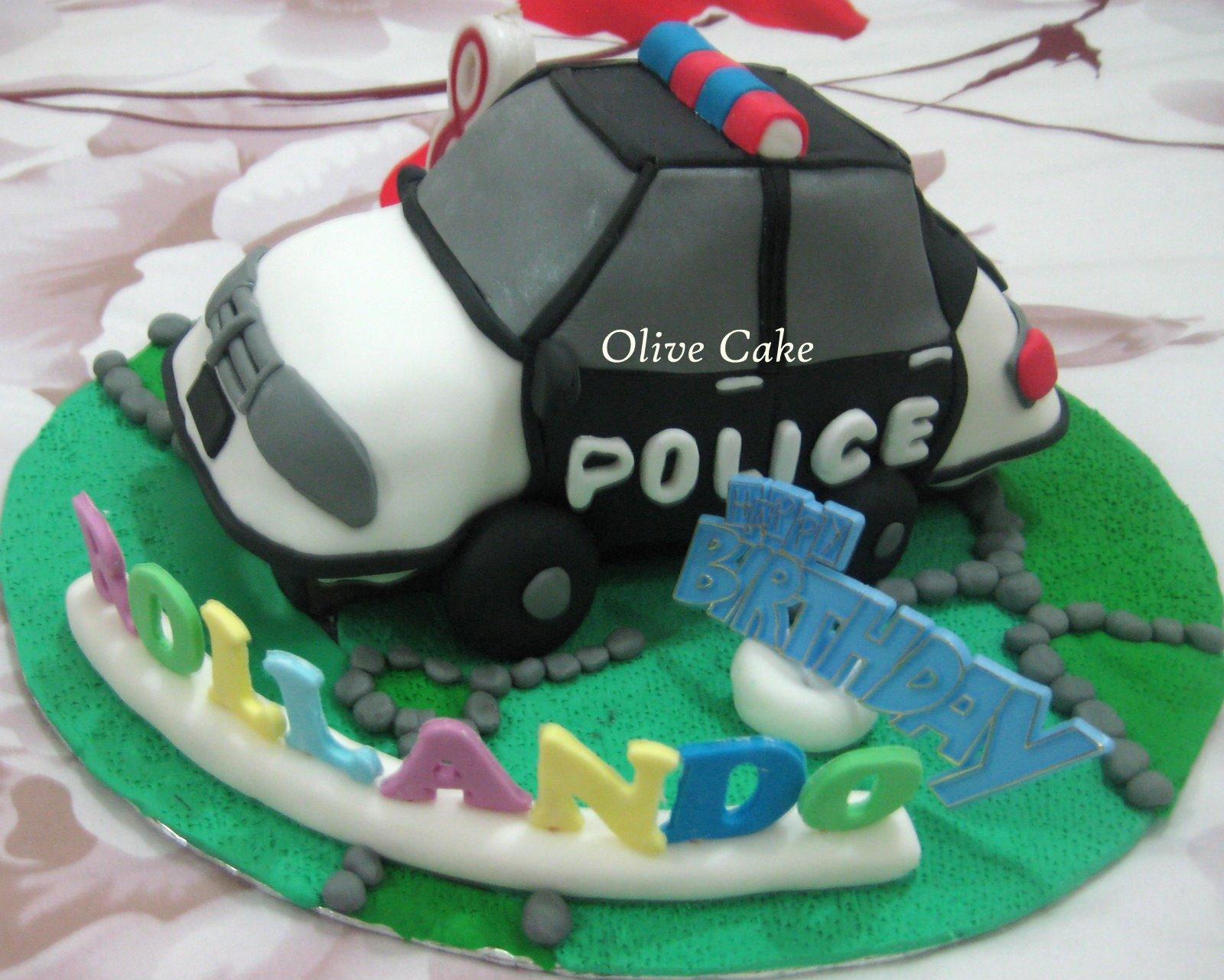 Olives Cake Police Car Cake
