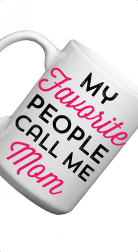 "Love You a Latte Shop ""My Favorite People Call Me Mom"" Mug"