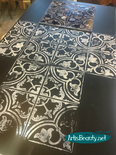 black and white cubano tile makeover for free desk black and white general finishes