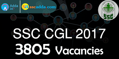 SSC CGL 2017 Vacancies