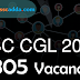 SSC CGL 2017 Vacancies Out