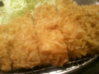 tonkatsu; breaded pork cutlet