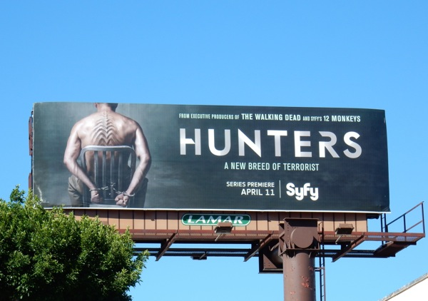 Hunters Syfy series billboard