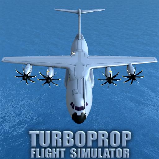 تحميل لعبة Turboprop Flight Simulator 3D v1.18c مهكرة وكاملة للاندرويد أموال لا تنتهي
