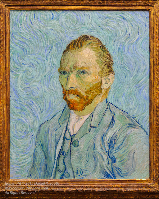 a photo of van gogh self portrait musee d'orsay paris