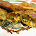 Wonton frito de verduritas y gambas