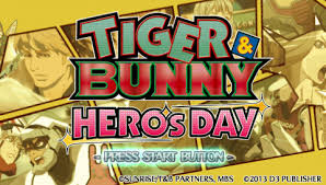 Download Tiger and Bunny - Heros Day Japan Game PSP for Android - www.pollogames.com
