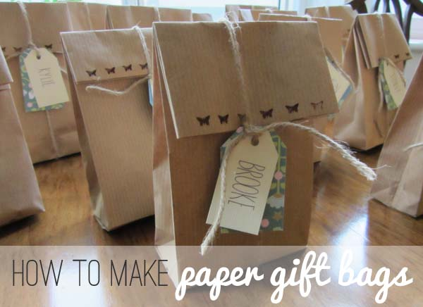The Bumbling Bee Make Your Own Paper Gift Bags